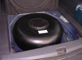 Gastank im Kofferraum