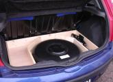 Gastank und Rahmen für erh. Kofferraumboden