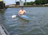 Günter an der Kanalschleuse Gahlen